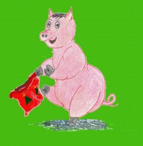 Dancing xmas pig