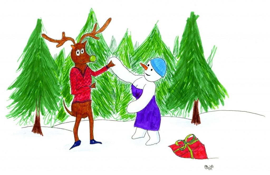 Bartholomew the ballroom dancing reindeer