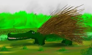 Porcupine and Crocodile hybrid