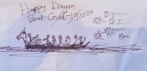 Dragon boat escaping covid19